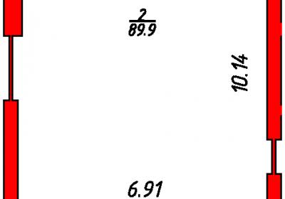 План помещения 1003 Некрасова 38/25