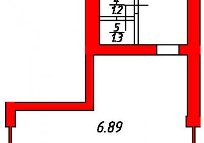 План помещения 1004 Некрасова 38/25
