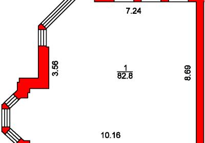 План помещения 1004 Пароменская 8а