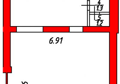 План помещения 1005 Некрасова 38/25