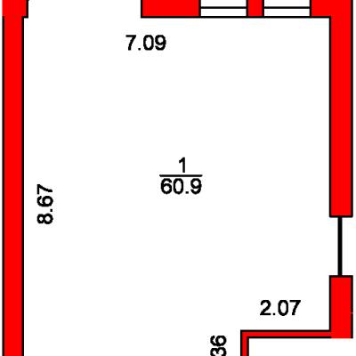 План помещения 1005 Пароменская 8а