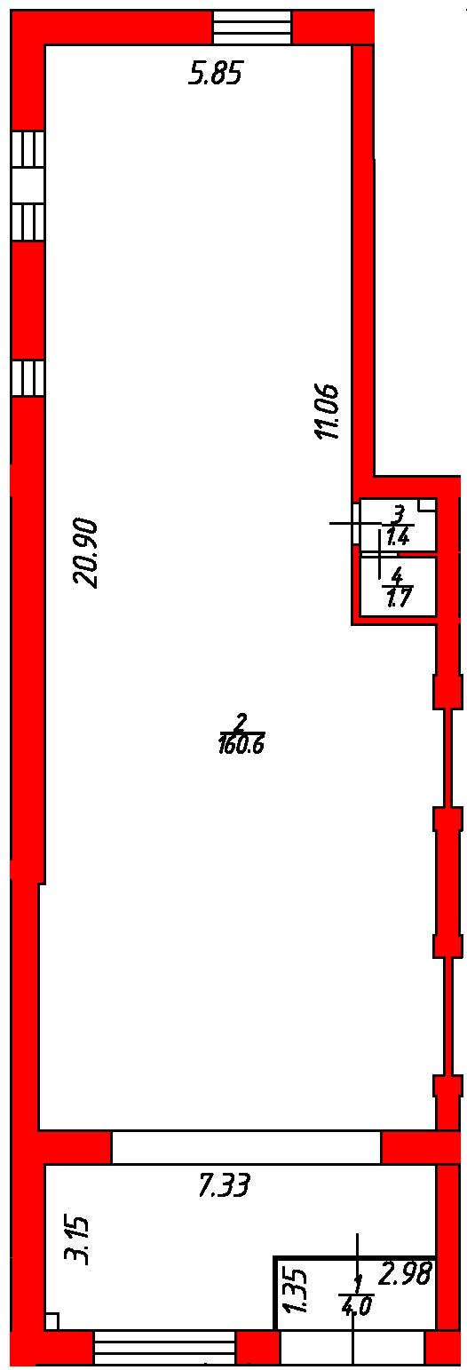 План помещения 1006 Некрасова 38/25