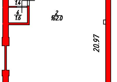 План помещения 1007 Некрасова 38/25