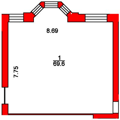 План помещения 1008 Пароменская 8а