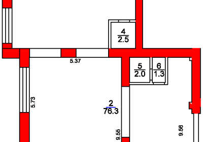 План помещения 1011 Рижский 5а