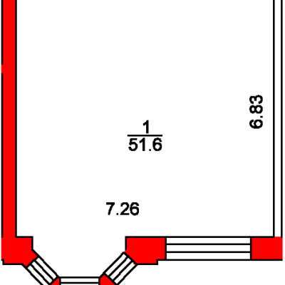 План помещения 1011 Пароменская 8а