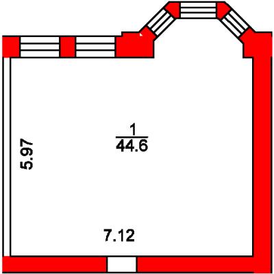 План помещения 1012 Пароменская 8а