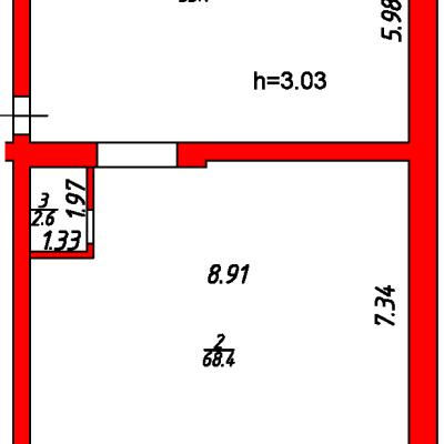 План помещения 1013 Некрасова 38/25