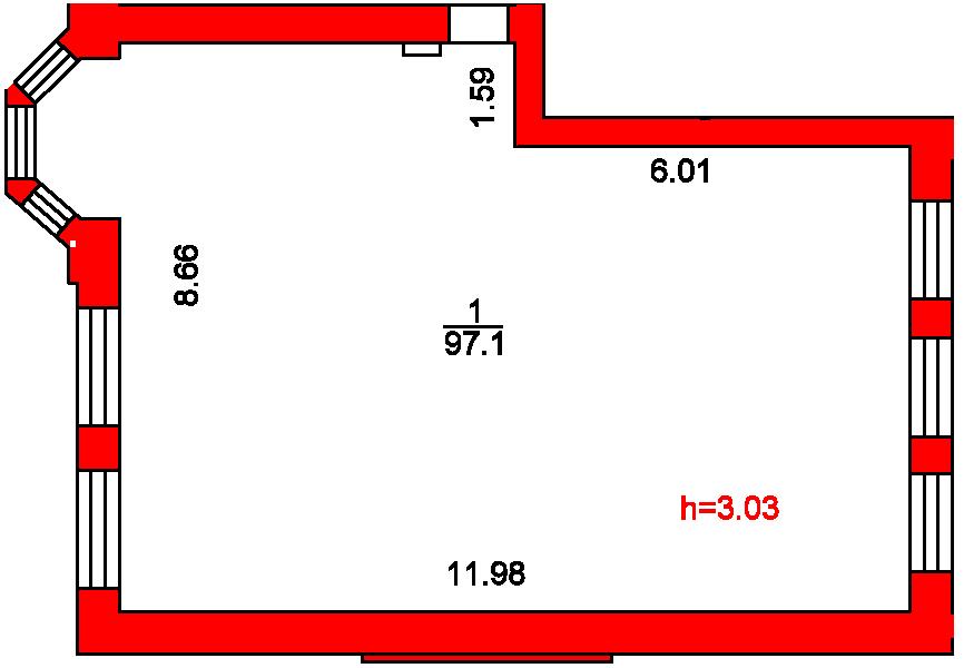 План помещения 1020 Пароменская 8а