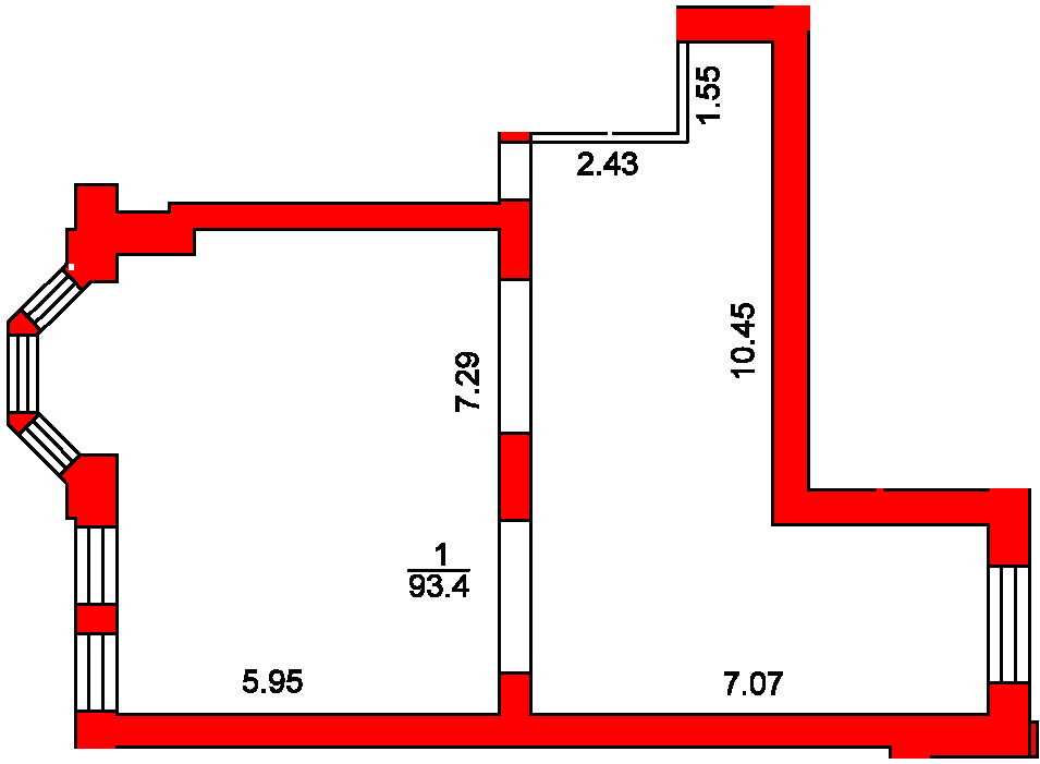 План помещения 1022 Пароменская 8а