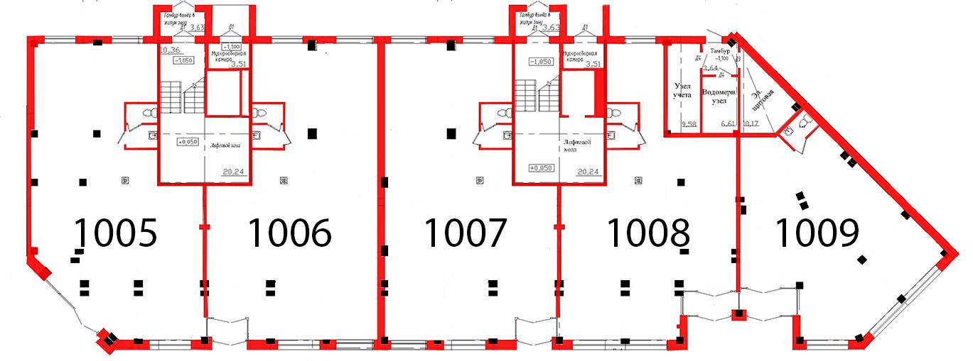План первого этажа 2 секция