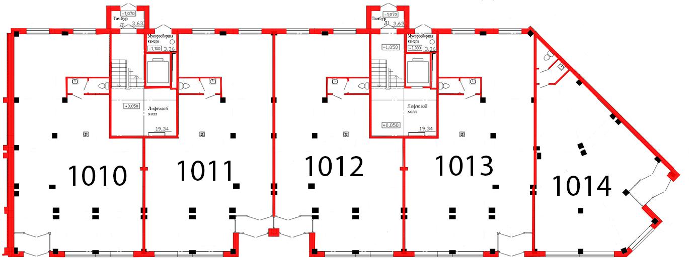 План первого этажа 3 секция