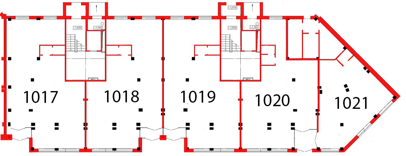 План первого этажа 4 секция