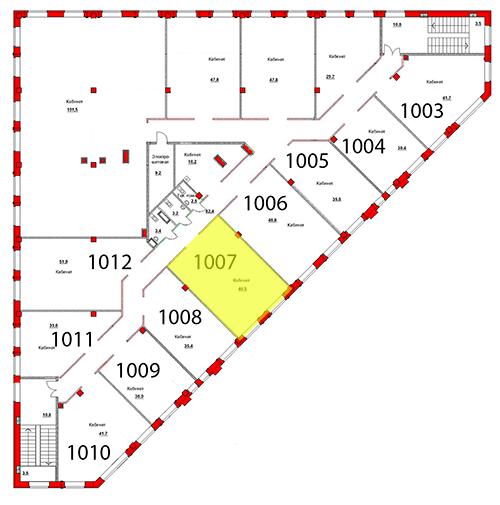 Выделение помещения 1007 Труда 50а