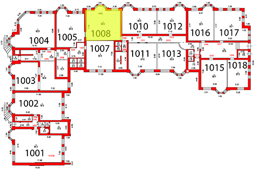 План второго этажа c выделением помещения