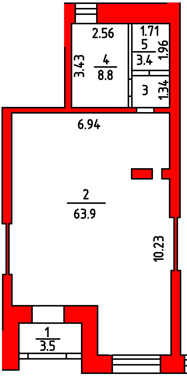 План помещения 1004 Л.Толстого 2
