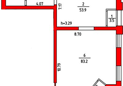 План помещения 1009 Л.Толстого 2